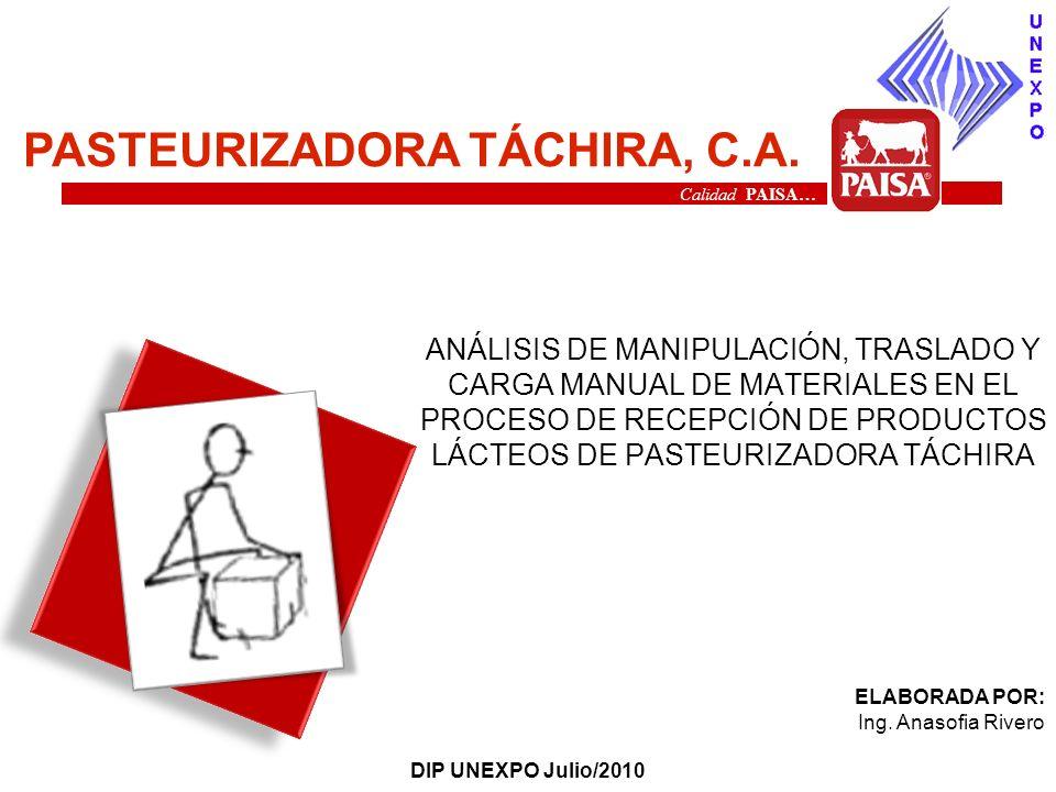PASTEURIZADORA TÁCHIRA, C.A.