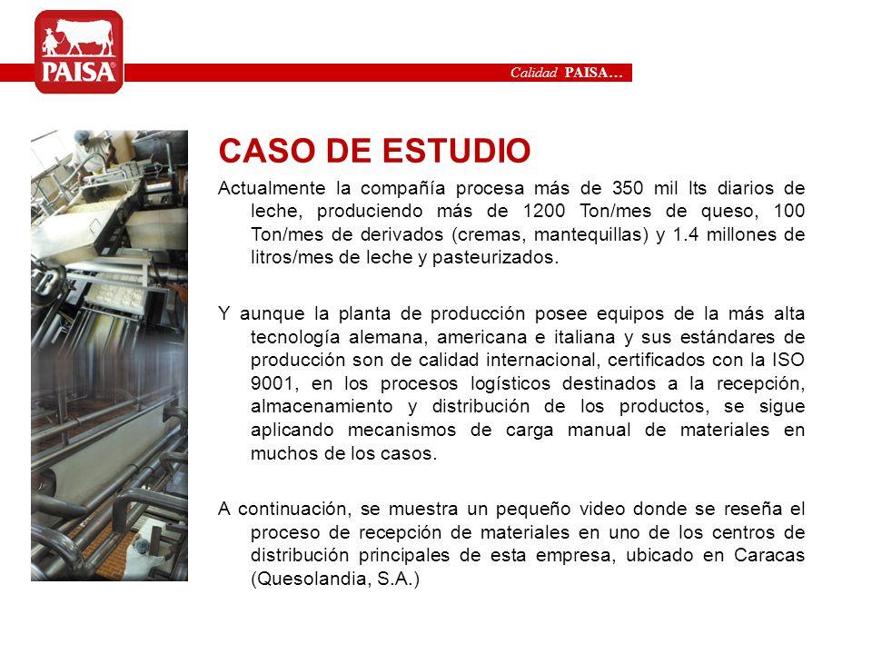 Calidad PAISA…CASO DE ESTUDIO.
