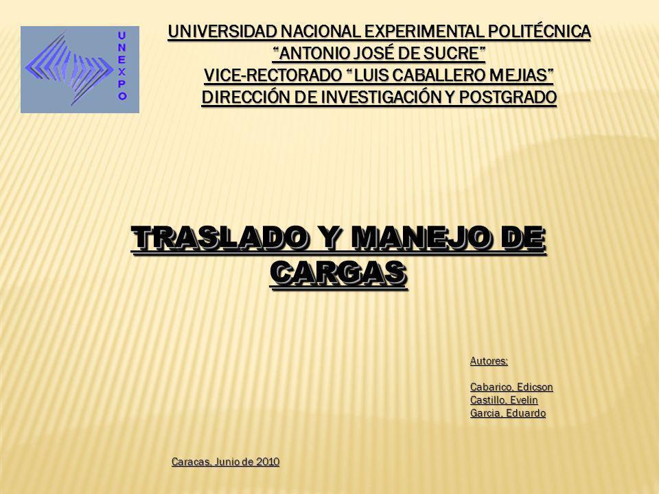 TRASLADO Y MANEJO DE CARGAS