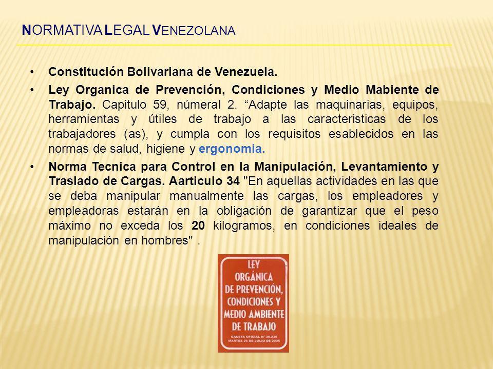 NORMATIVA LEGAL VENEZOLANA