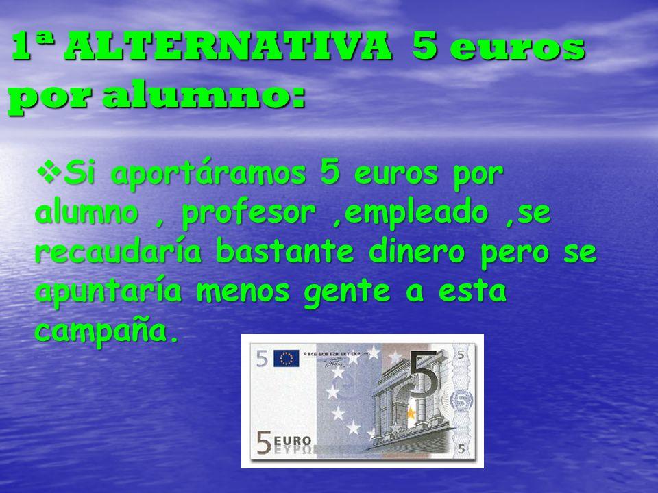 1ª ALTERNATIVA 5 euros por alumno: