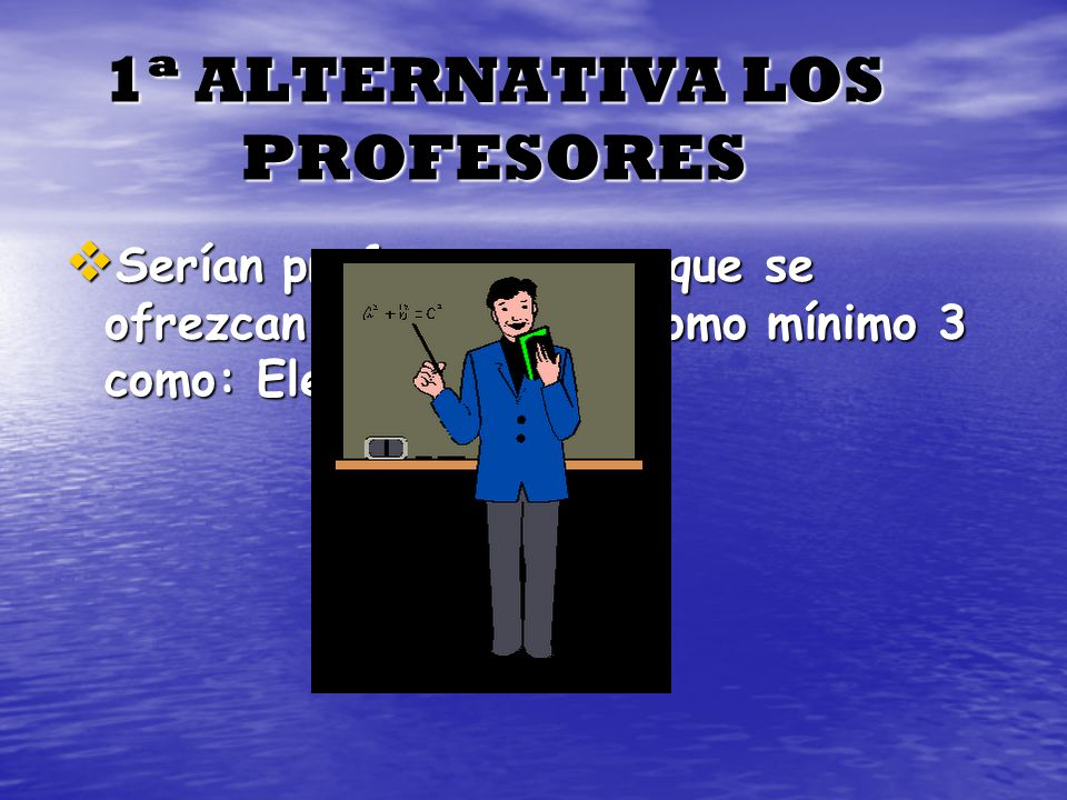 1ª ALTERNATIVA LOS PROFESORES
