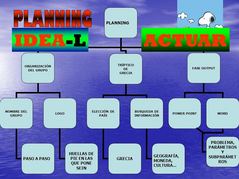 PLANNING IDEA-L ACTUAR