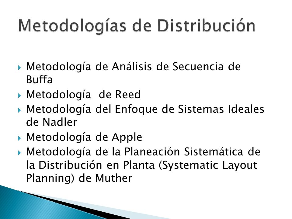 Metodologías de Distribución