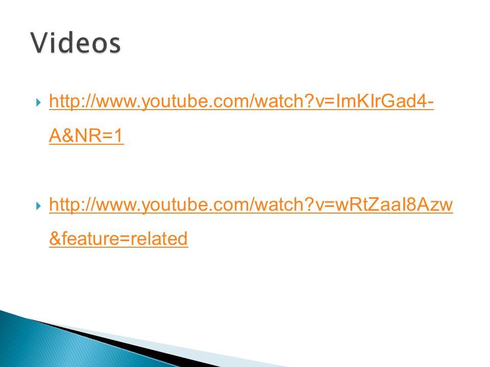 Videos http://www.youtube.com/watch v=ImKIrGad4- A&NR=1