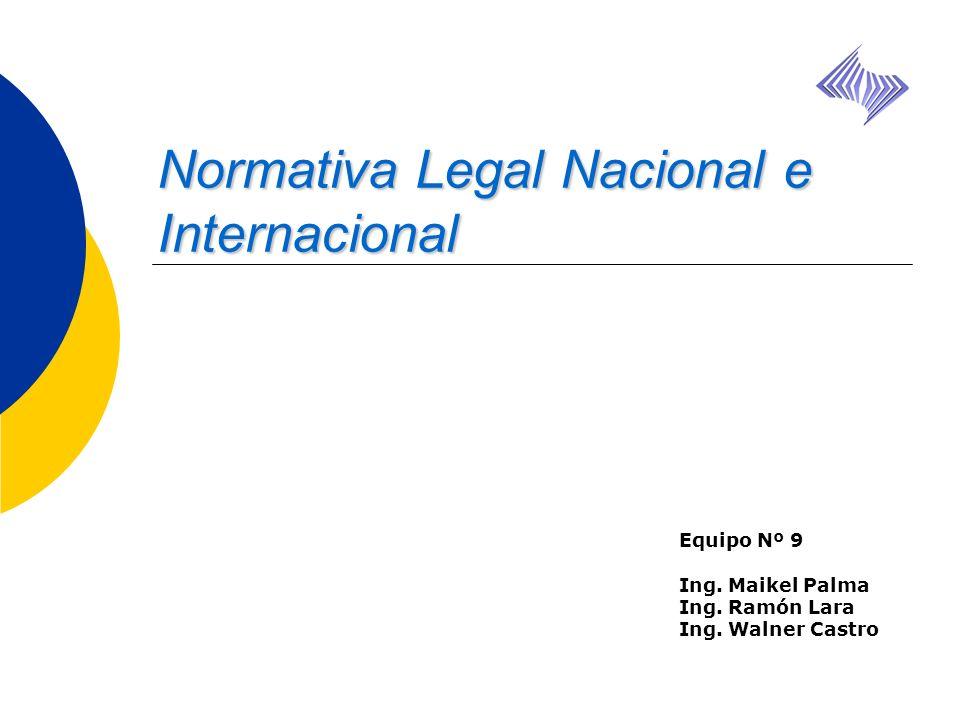 Normativa Legal Nacional e Internacional