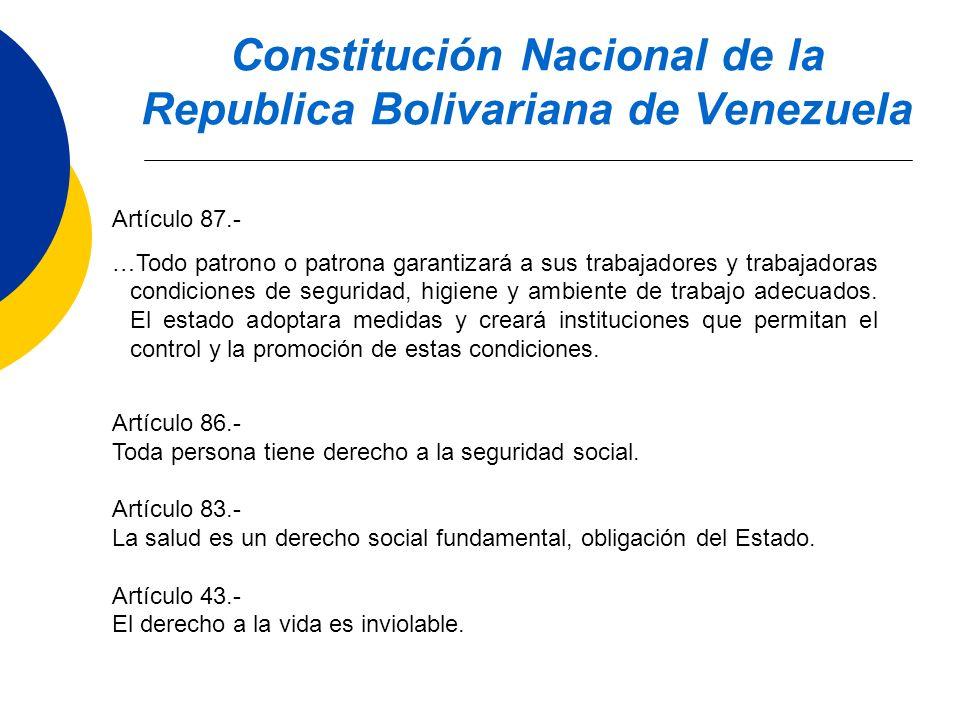 Constitución Nacional de la Republica Bolivariana de Venezuela