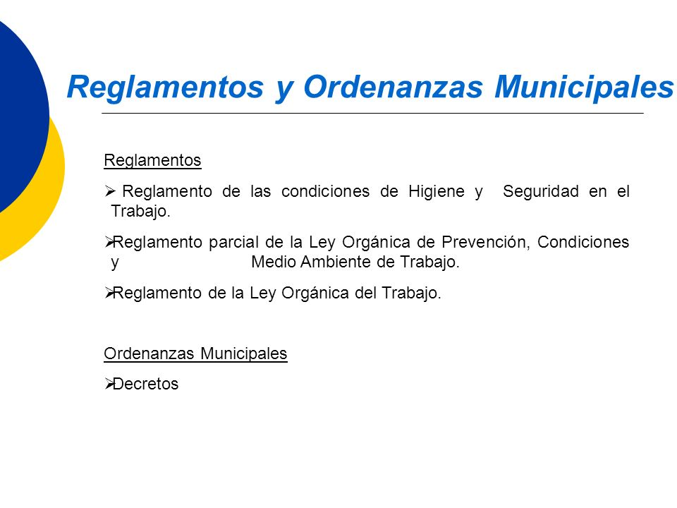 Reglamentos y Ordenanzas Municipales