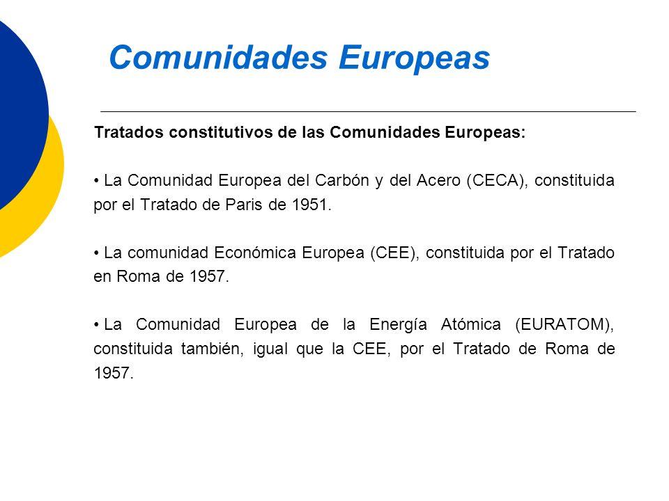 Comunidades Europeas Tratados constitutivos de las Comunidades Europeas: