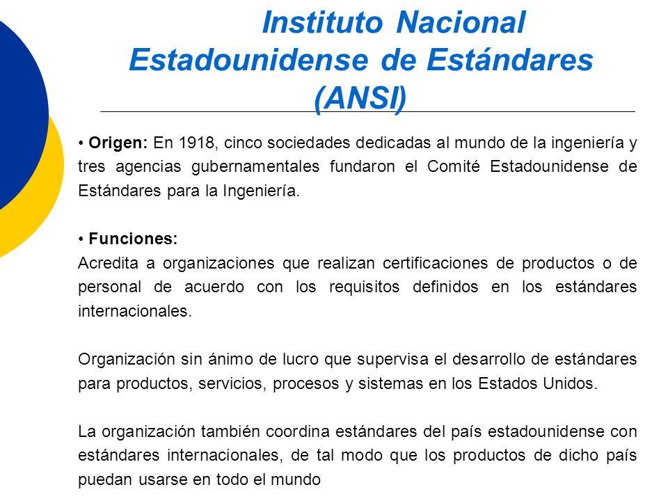 Instituto Nacional Estadounidense de Estándares (ANSI)