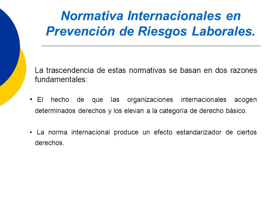 Normativa Internacionales en Prevención de Riesgos Laborales.
