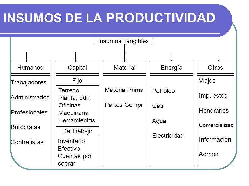 INSUMOS DE LA PRODUCTIVIDAD