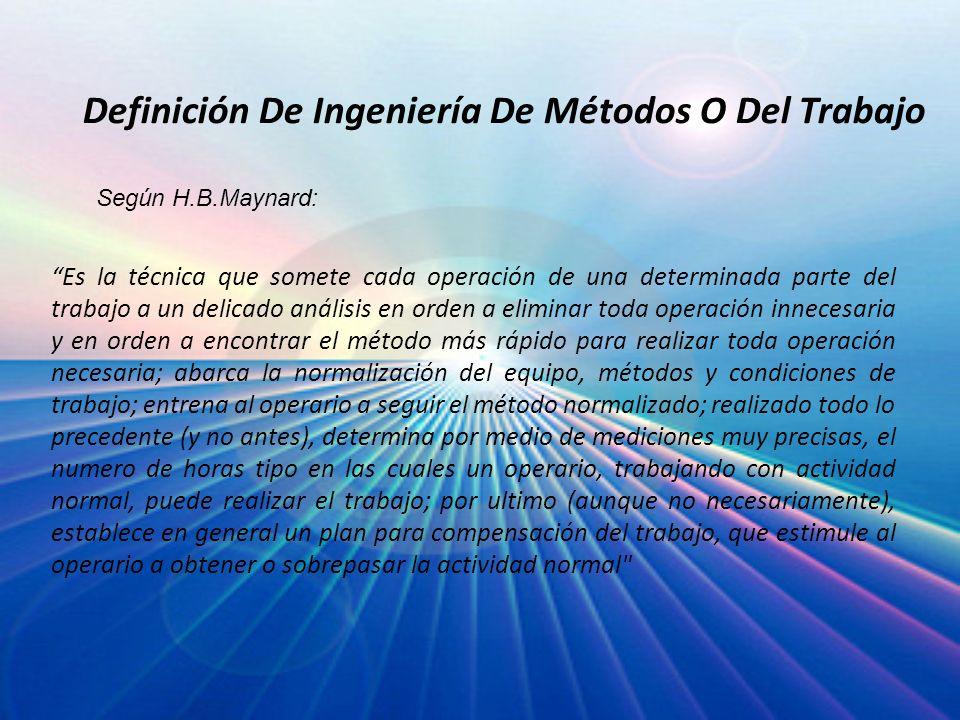 Definición De Ingeniería De Métodos O Del Trabajo
