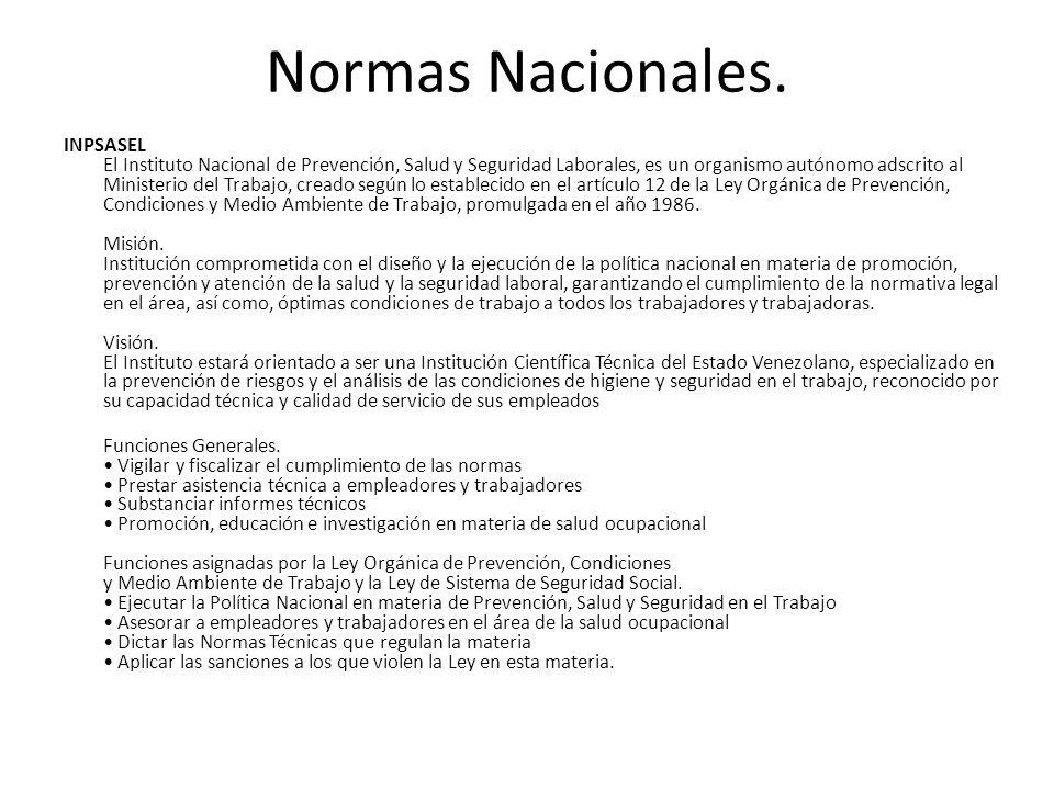 Normas Nacionales.
