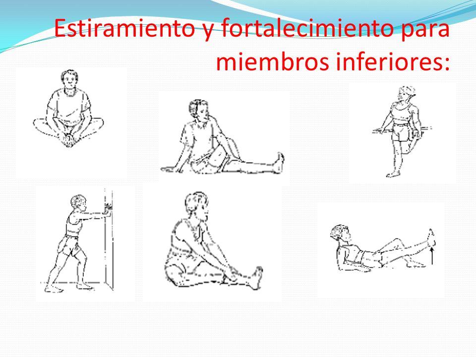 Estiramiento y fortalecimiento para miembros inferiores: