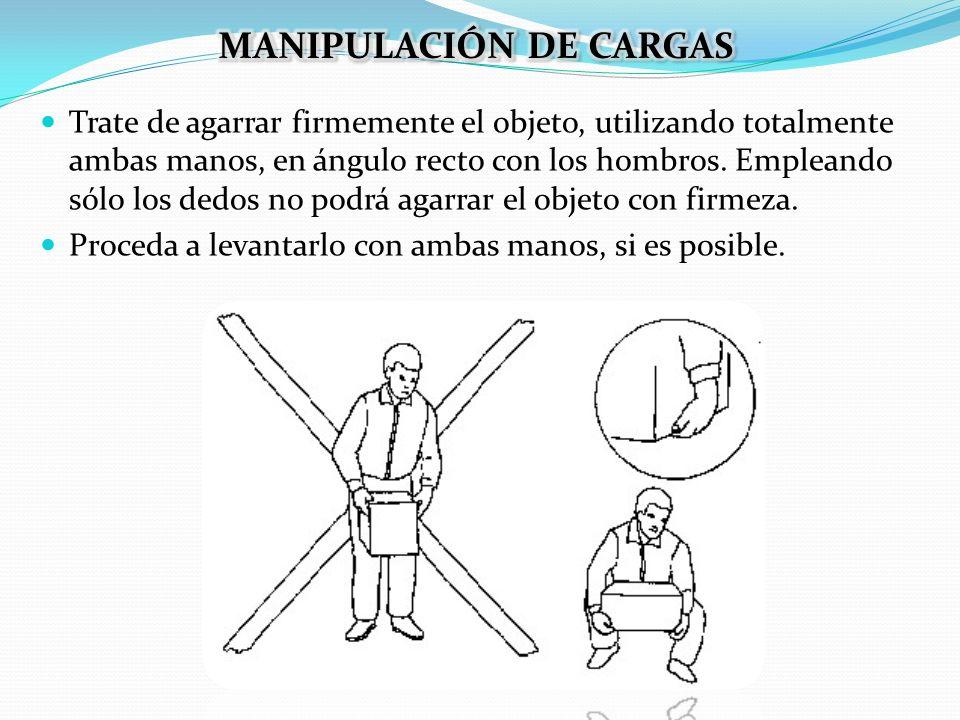 MANIPULACIÓN DE CARGAS
