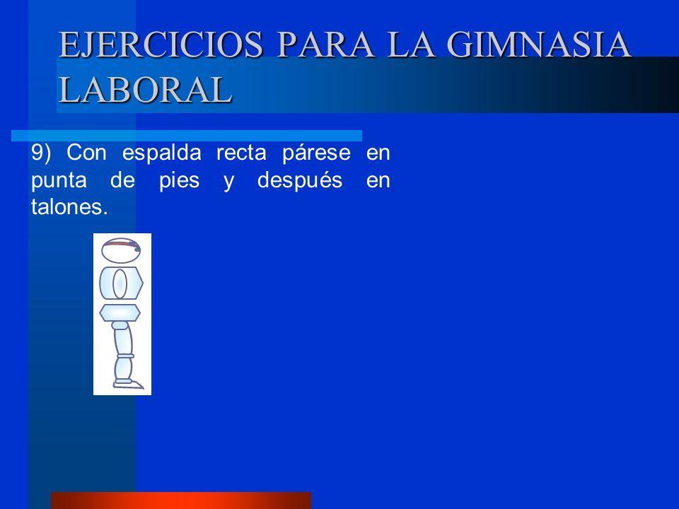 EJERCICIOS PARA LA GIMNASIA LABORAL