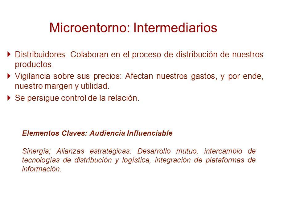 Microentorno: Intermediarios
