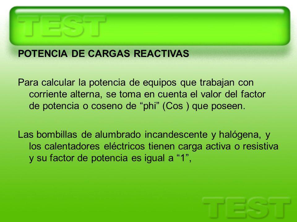 POTENCIA DE CARGAS REACTIVAS