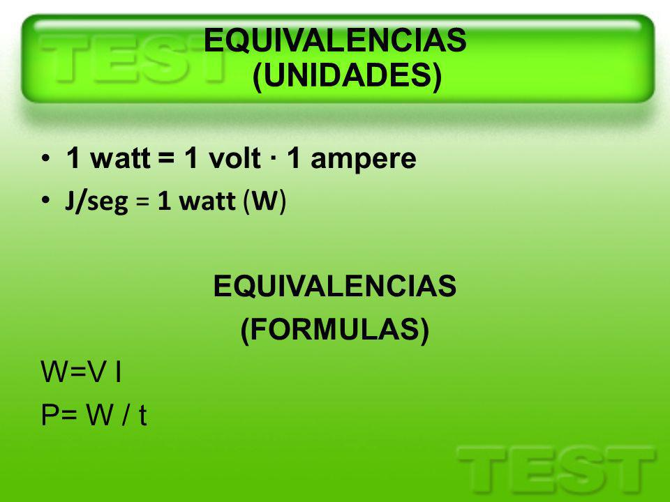 EQUIVALENCIAS (UNIDADES)