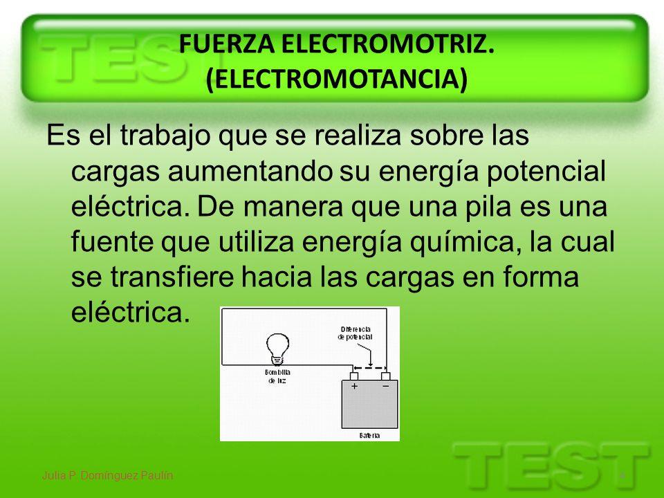 FUERZA ELECTROMOTRIZ. (ELECTROMOTANCIA)