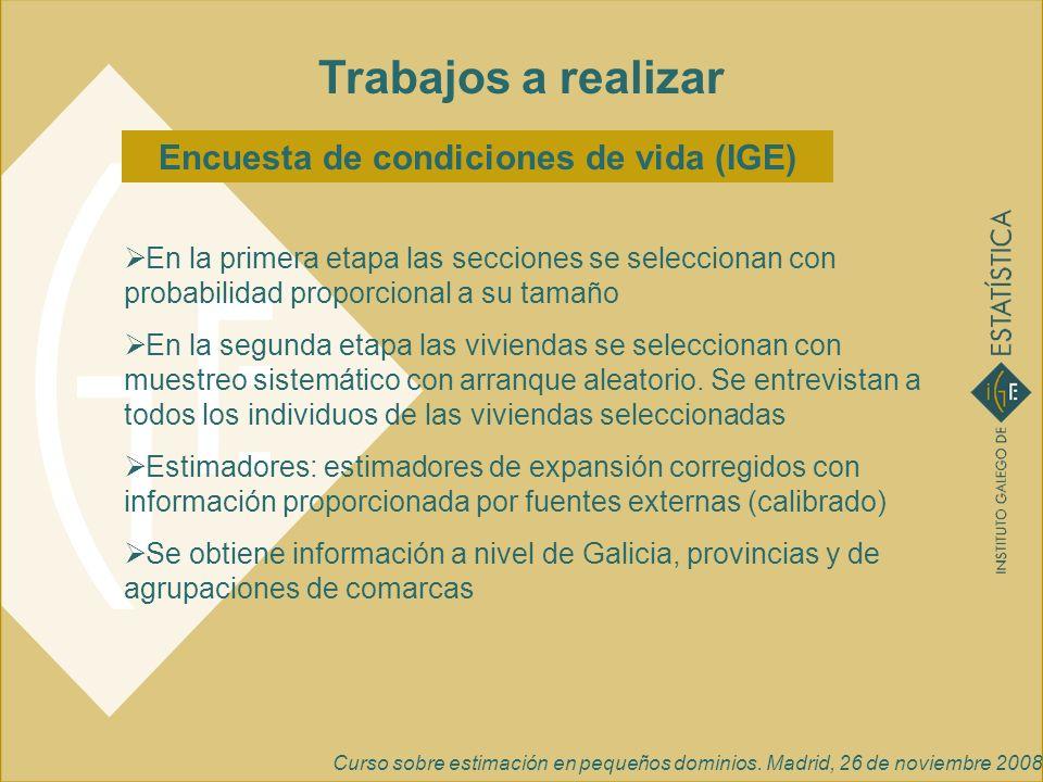 Encuesta de condiciones de vida (IGE)