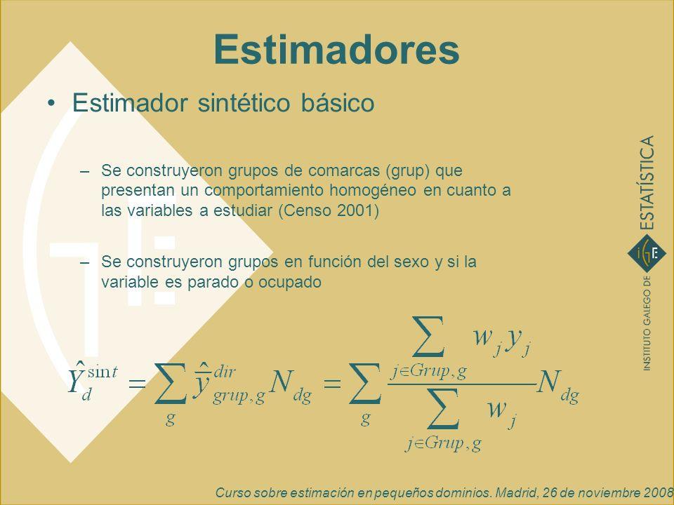 Estimadores Estimador sintético básico