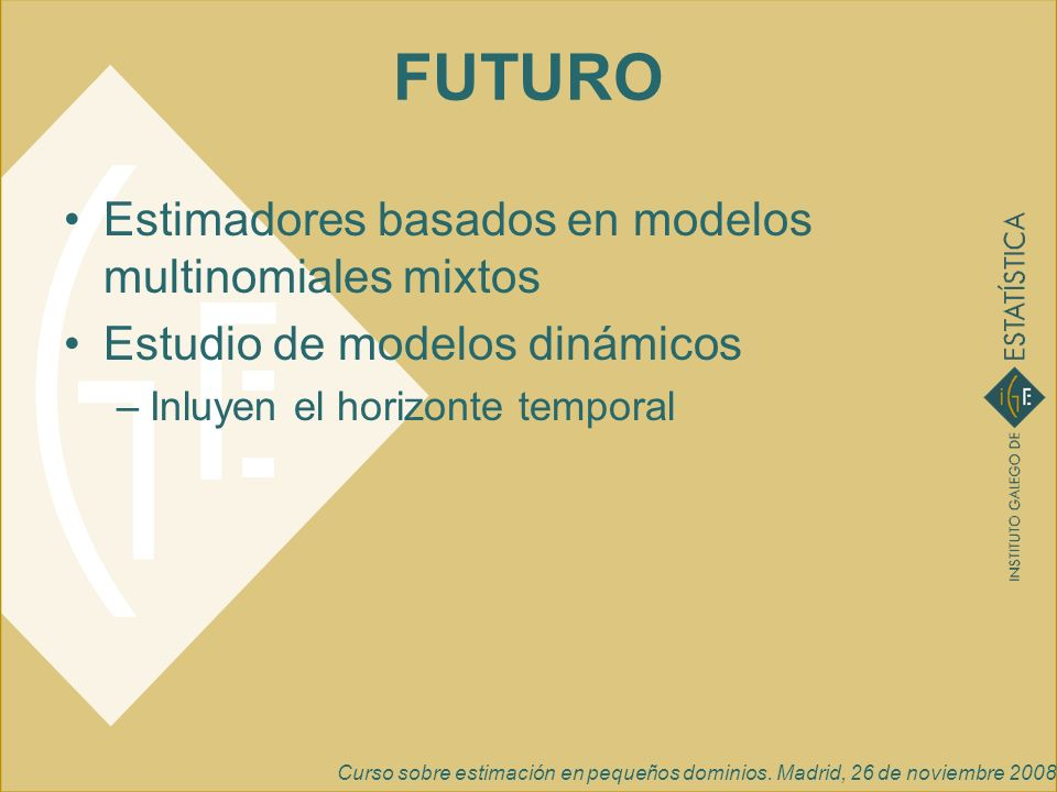FUTURO Estimadores basados en modelos multinomiales mixtos