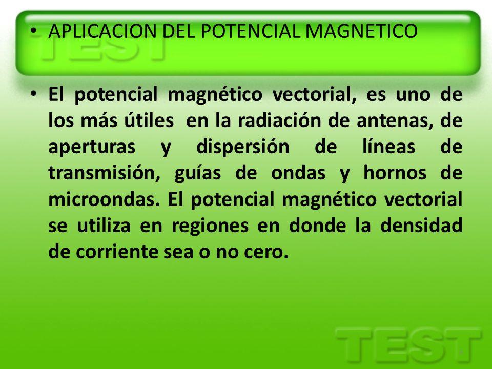 APLICACION DEL POTENCIAL MAGNETICO