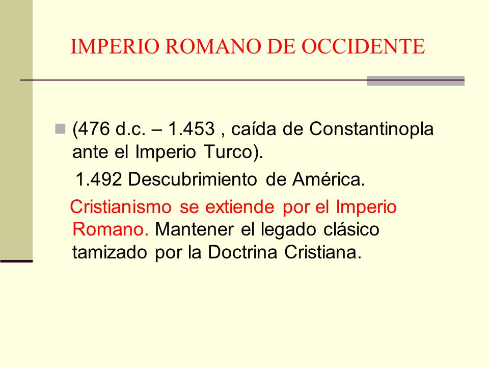 IMPERIO ROMANO DE OCCIDENTE