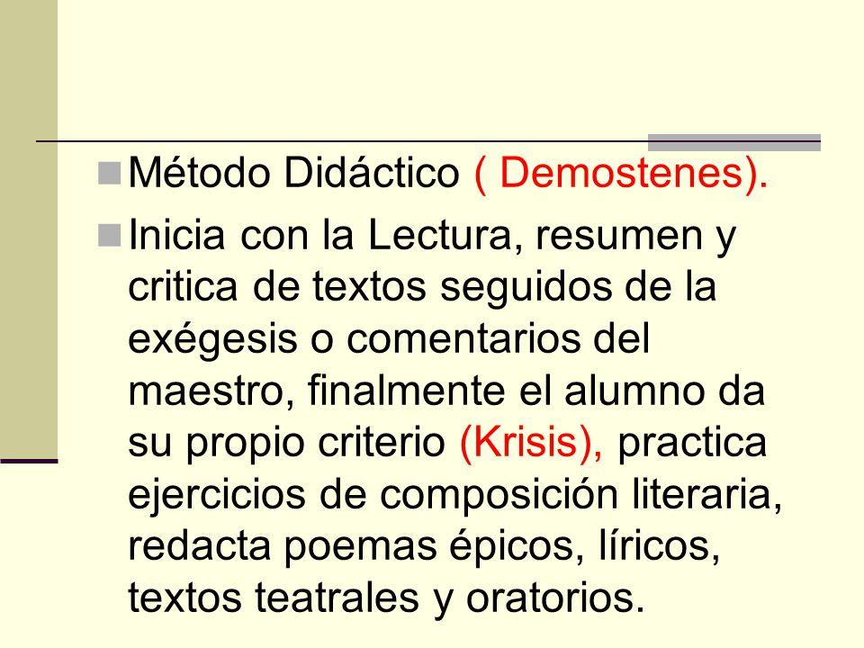 Método Didáctico ( Demostenes).