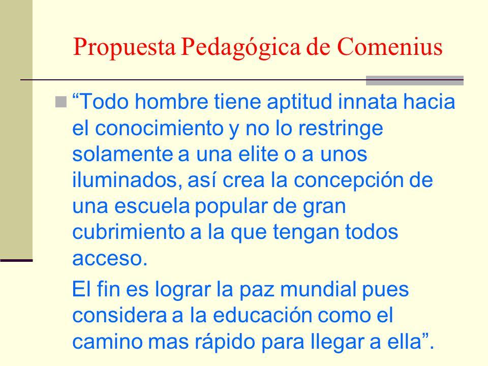 Propuesta Pedagógica de Comenius