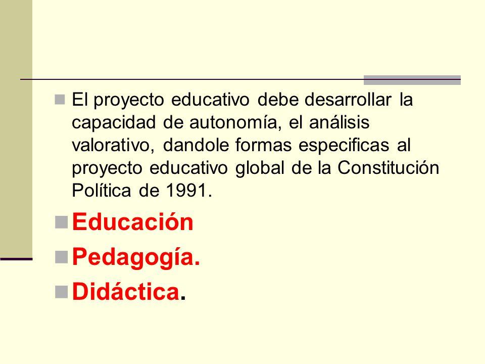 Educación Pedagogía. Didáctica.