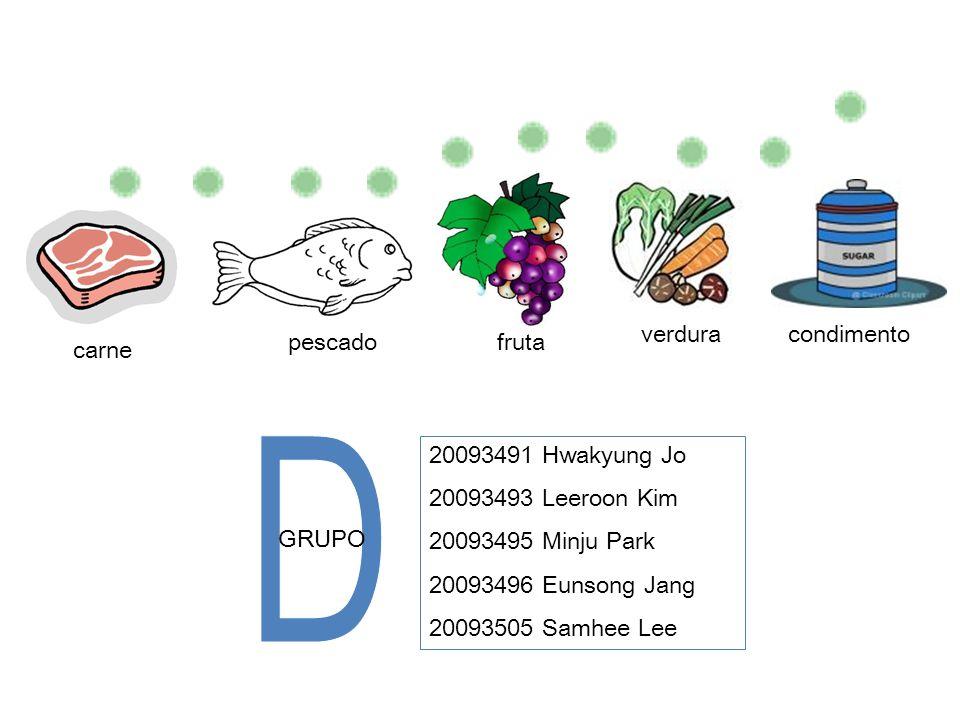 D fruta verdura condimento carne pescado GRUPO 20093491 Hwakyung Jo
