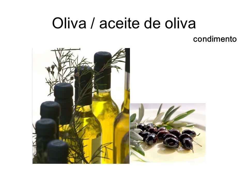 Oliva / aceite de oliva condimento