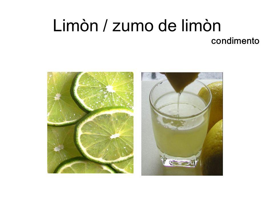 Limòn / zumo de limòn condimento