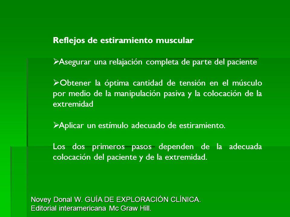 Reflejos de estiramiento muscular