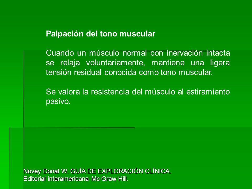 Palpación del tono muscular