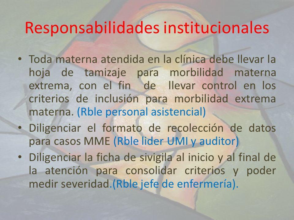 Responsabilidades institucionales