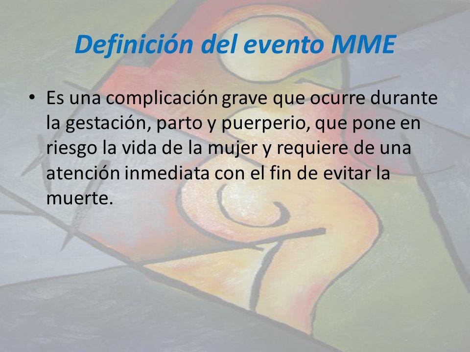 Definición del evento MME