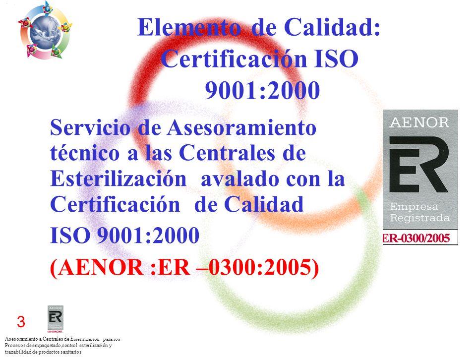 Elemento de Calidad: Certificación ISO 9001:2000
