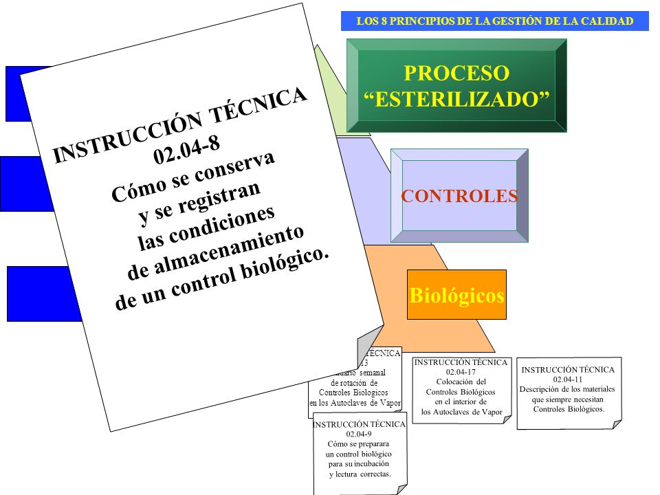 LOS 8 PRINCIPIOS DE LA GESTIÓN DE LA CALIDAD de un control biológico.