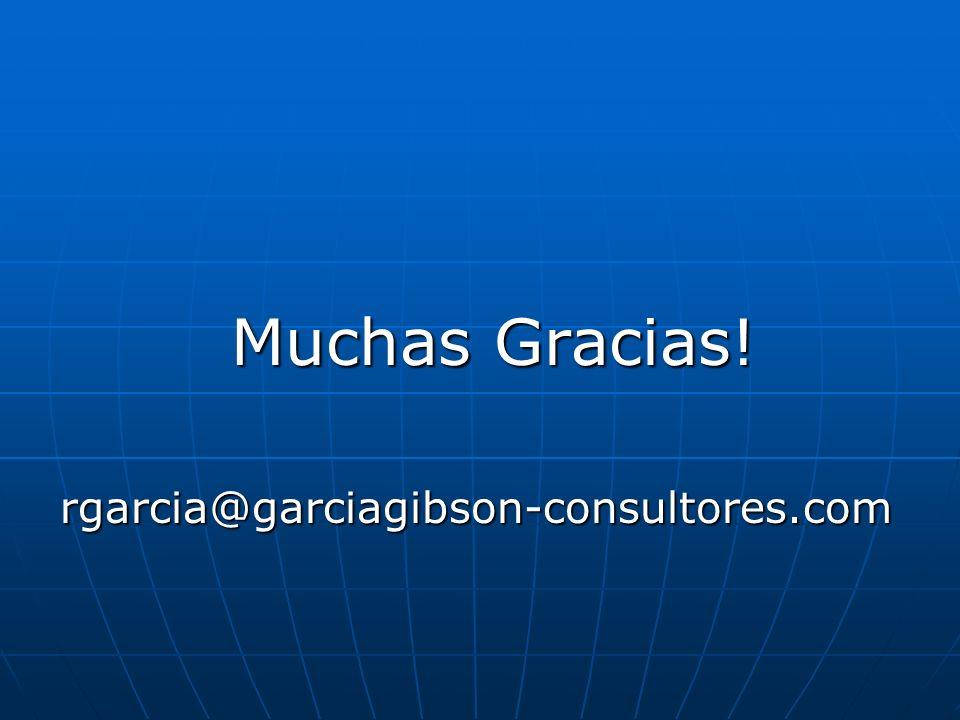 Muchas Gracias! rgarcia@garciagibson-consultores.com