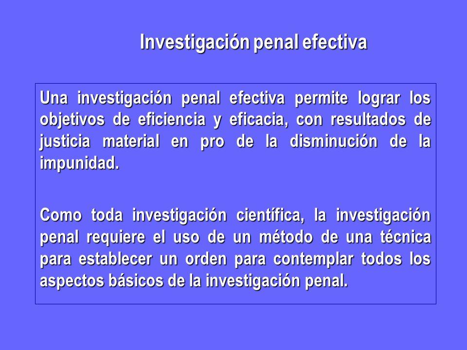 Investigación penal efectiva