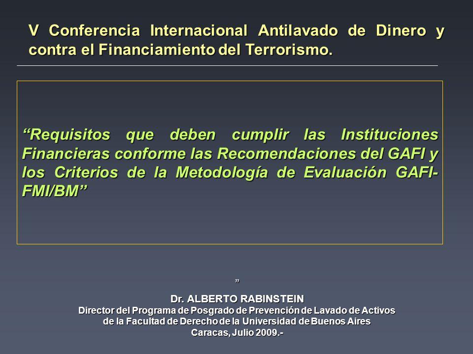 V Conferencia Internacional Antilavado de Dinero y contra el Financiamiento del Terrorismo.