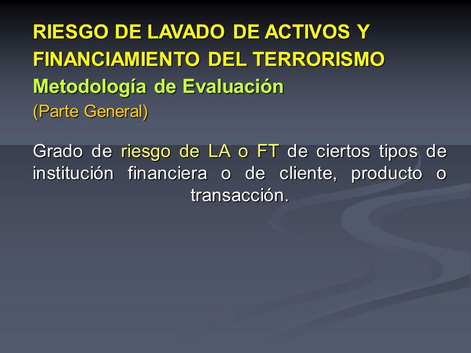 RIESGO DE LAVADO DE ACTIVOS Y FINANCIAMIENTO DEL TERRORISMO