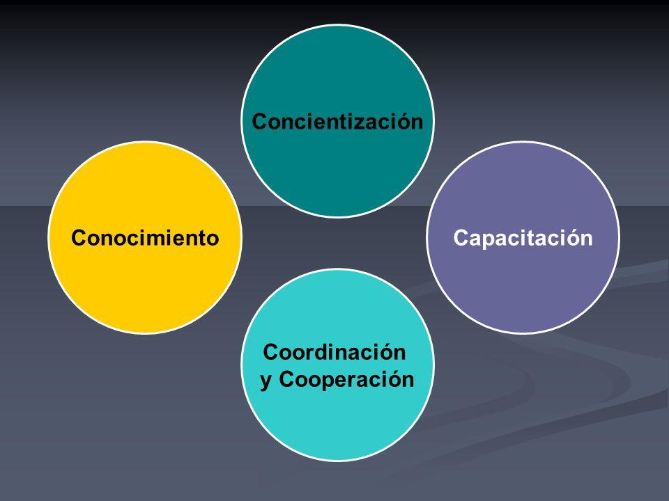 Concientización Conocimiento Capacitación Coordinación y Cooperación