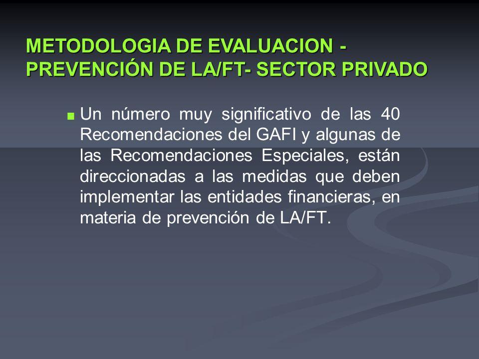 METODOLOGIA DE EVALUACION - PREVENCIÓN DE LA/FT- SECTOR PRIVADO