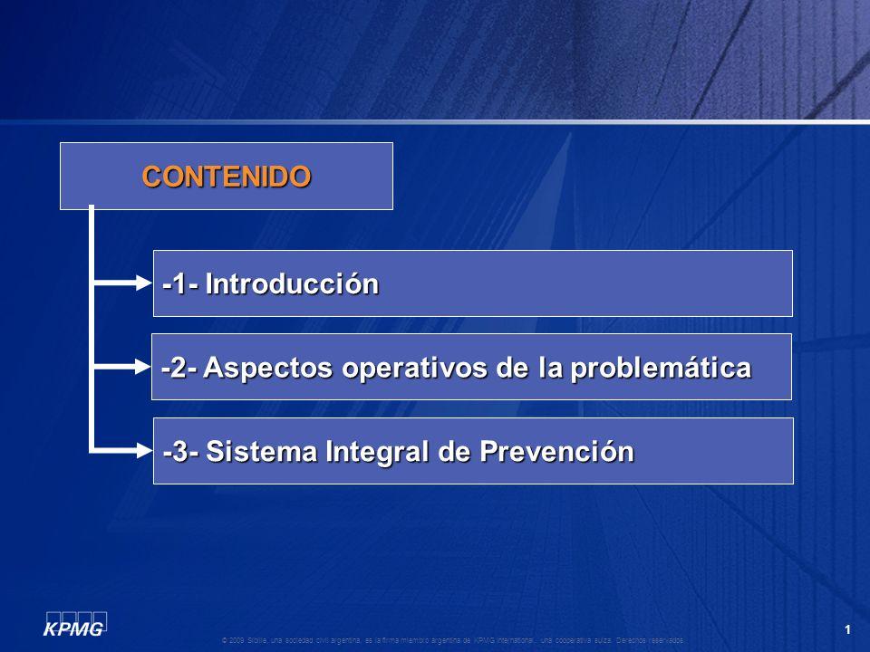 CONTENIDO -1- Introducción. -2- Aspectos operativos de la problemática.