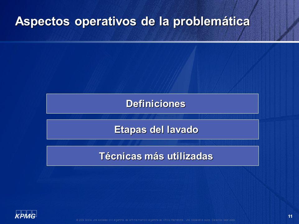 Aspectos operativos de la problemática